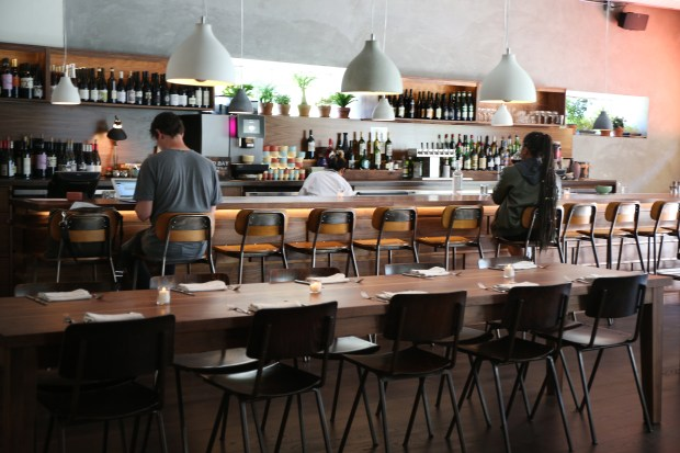 View of the bar at Alta MSP in San Francisco, Calif., on Tuesday, Aug. 1, 2017. (Ray Chavez/Bay Area News Group)