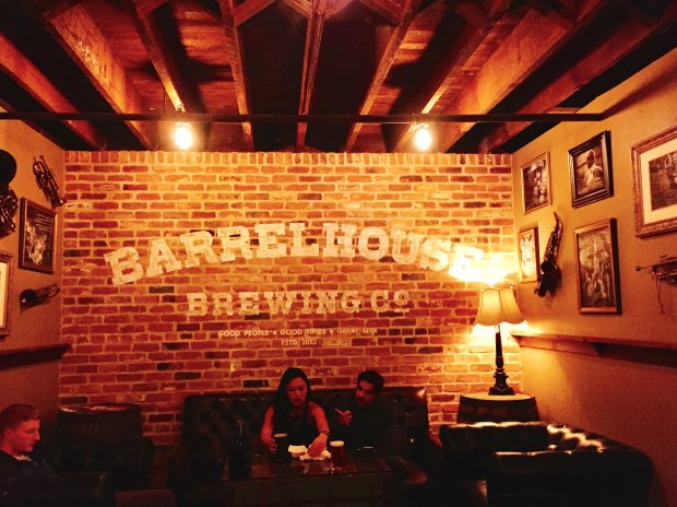 The BarrelHouse Brewing Speakeasy in historic downtown San Luis Obispore-creates a Prohibition vibe in its basement setting. (Photo courtesy of Amber Turpin)