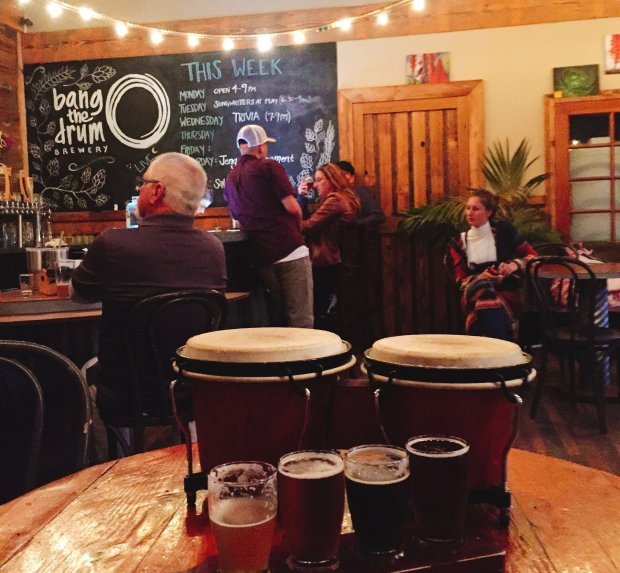 San Luis Obispo's Bang the Drum nano brewery was opened by a homebrewer andformer chocolatier, with a penchant for drums. (Photo courtesy of Amber Turpin)