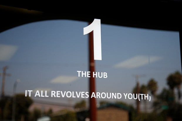 The Hub is a community resource center for youths located on North King Road in San Jose, California. It remains open Wednesday, Aug. 23, 2017, where it will stay until relocating sometime in the next couple years to a location on Parkmoor Avenue. (Karl Mondon/Bay Area News Group)