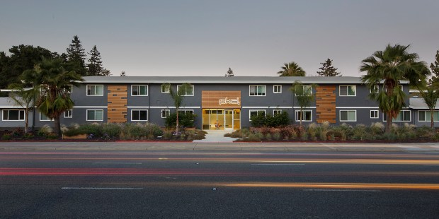 """Courtesy Calvera PartnersCalvera Partners recently sold a 37-unit, Atari-themed apartment building called pksl (pronounced """"pixel""""), located at 1090 Sunnyvale Saratoga Road in Sunnyvale. The design is in homage to Sunnyvale being the birthplace of Atari, an early pioneer in video gaming."""