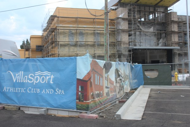 VillaSport Athletic Club and Spa is under construction in San Jose at 1171 N. Capitol Ave. and will total 88,000 square feet when it is complete by the end of 2017. September 2017.