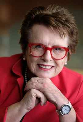 "Tennis legend and Long Beach native Billie Jean King is the subject of the film ""Battle of the Sexes,"" which is being released Friday. (Steve McCrank/Staff Photographer)"