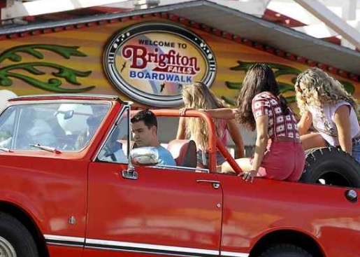 The Santa Cruz Beach Boardwalk is named the 'Brighton Falls Boardwalk' in Paramount Pictures' 'Bumblebee.' (Shmuel Thaler -- Santa Cruz Sentinel)