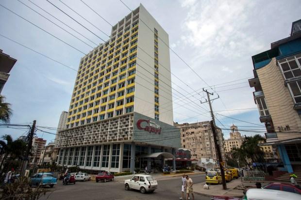 The Hotel Capri in Havana, Cuba, on Sept. 12, 2017. (AP Photo/Desmond Boylan)