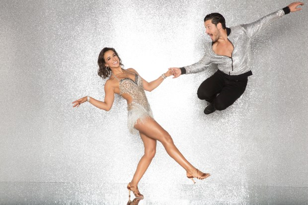 """DANCING WITH THE STARS - VICTORIA ARLEN AND VALENTIN CHMERKOVSKIY - The celebrity cast of """"Dancing with the Stars"""" are donning their glitzy wardrobe and slipping on their dancing shoes as they ready themselves for their first dance on the ballroom floor, as the season kicks off on MONDAY, SEPTEMBER 18 (8:00-10:01 p.m. EST), on the ABC Television Network. (ABC/Craig Sjodin)"""