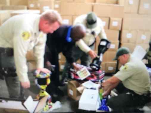 Sheriff's investigators seized thousands of counterfeit hoverboards on Sept. 18, 2017 in Santa Fe Springs worth $1.2 million. (Photo by Los Angeles Sheriff's Department)