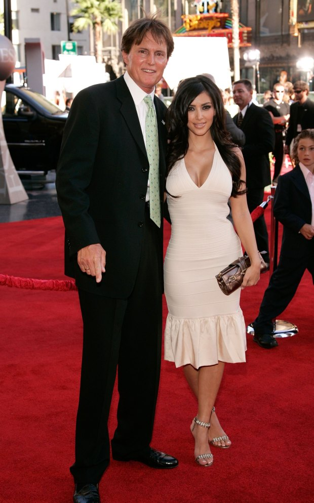 HOLLYWOOD - JULY 12: Former olympian Bruce Jenner and socialite Kim Kardashian arrives at the 2006 ESPY Awards at the Kodak Theatre on July 12, 2006 in Hollywood, California. (Photo by Vince Bucci/)