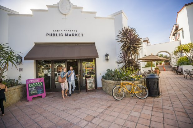 The Santa Barbara Public Market is home to cafes, food vendors and the newCorazon Cocina, where the flavors pop and the seasonal ingredients are fresh and colorful. (David Collier/Visit Santa Barbara)