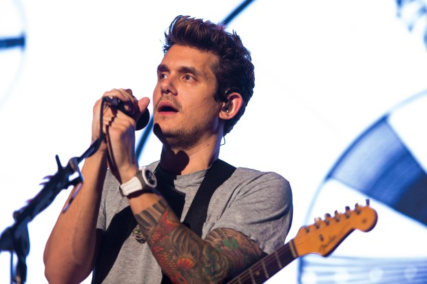 John Mayer performs on The Search for Everything World Tour at Jones Beach Theater on Wednesday, Aug. 23, 2017 in Wantagh, New York. (Photo by Scott Roth/Invision/AP)