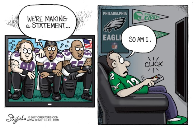 Cartoons Donald Trump And NFL Players Take A Knee