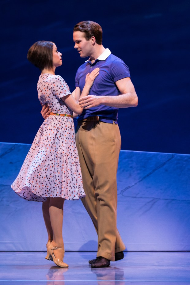 "MATTHEW MURPHY/SHNSara Esty and McGee Maddo star in the romantic musical ""An American in Paris,"" playing at the Orpheum Theatre in San Francisco through Oct. 8."