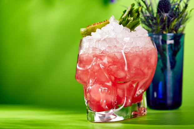 You can go classy and serve a high-octane Zombie in a Collins glass, but aglass skull seems awfully apropos. (Thinkstock)