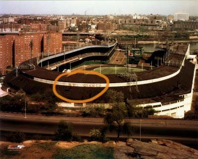 This photo shows the original location of the Polo Grounds letters that arenow part of the San Francisco Giants' collection of unusual artifacts. Team executive Mario Alioto says: 'You can't let those memories go away.'(Photo courtesy of San Francisco Giants)