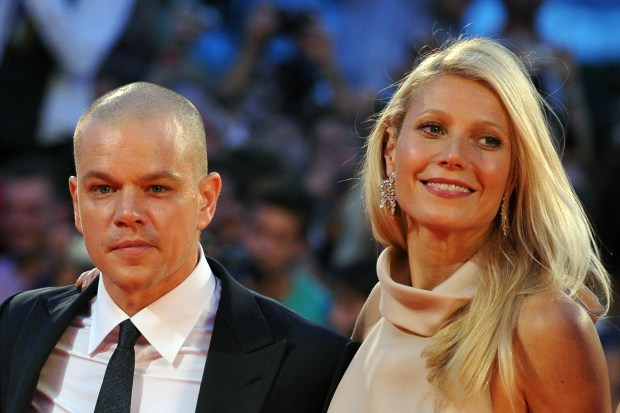 "US actor Matt Damon (L) and British actress Gwyneth Paltrow arrive for the screening of ""Contagion"" during the 68th Venice International Film Festival on September 3, 2011. ""Contagion"" by US director Steven Soderbergh is presented out of competition. AFP PHOTO / ALBERTO PIZZOLI (Photo credit should read ALBERTO PIZZOLI/AFP/Getty Images)"