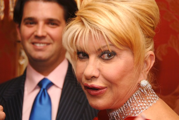 "NEW YORK - MAY 2: Donald Trump, Jr. and Ivana Trump attend a ""Spring Into Summer"" cocktail reception hosted by herself and Jason Binn, CEO of Niche Media (publisher of 'Gotham' and 'Hamptons' Magazines) on May 02, 2007 in New York City, USA. (Photo by Andrew H. Walker/Getty Images)"