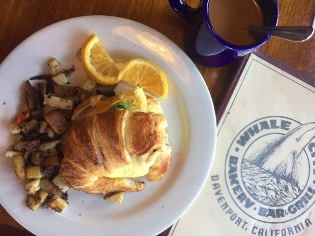 Davenport's Whale City Bakery Bar & Grill is known for its stuffedcroissants and croissant breakfast sandwiches. (Courtesy of Amber Turpin)