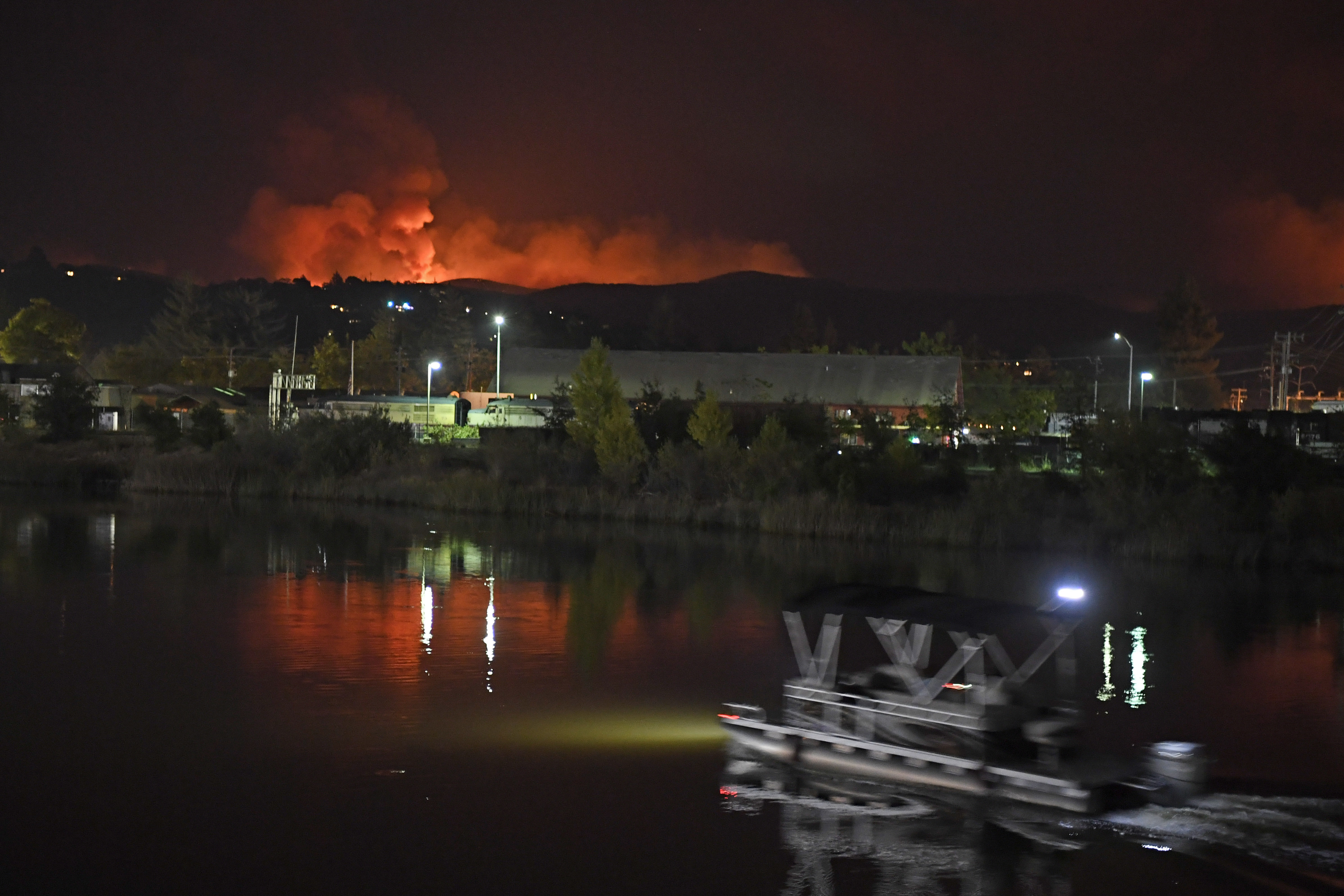 Image result for Images of Fire in Santa Rosa