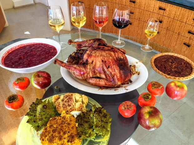 A Thanksgiving feast calls for an array of non-traditional wine varietiesthroughout the meal. (Mary Orlin/Bay Area News Group)