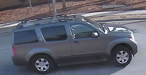 Lawrence Carter, a suspect in at least seven chain-snatch robberies, wasseen driving this gray 2006 Nissan Pathfinder. Police are asking victims to contact San Jose police Detective Katie Reyes at 408-277-4166. (Courtesy of the San Jose Police Department)