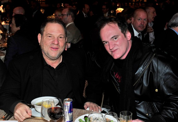 LOS ANGELES, CA - DECEMBER 10: Producer Harvey Weinstein (L) and Writer, Producer, Director Quentin Tarantino attend the 33rd annual Variety Home Entertainment Hall of Fame on December 10, 2013 in Los Angeles, California. (Photo by Jerod Harris/Getty Images for Variety)