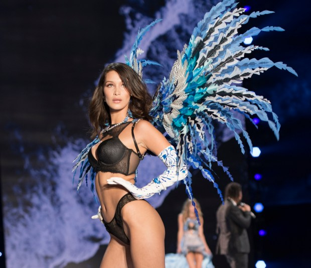 """""""THE VICTORIA'S SECRET FASHION SHOW"""" IN SHANGHAI, CHINA FOR THE FIRST TIME, at the Mercedes-Benz Arena, Broadcasting TUESDAY, NOV. 28, ON CBS. Pictured: Bella Hadid. Photo: Michele Crowe/CBS ©2017 CBS Broadcasting, Inc. All Rights Reserved"""