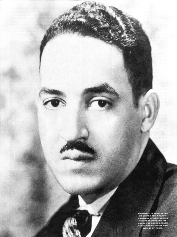 Future Supreme Court justice Thurgood Marshall in 1936. (Courtesy ofMaryland State Archives)