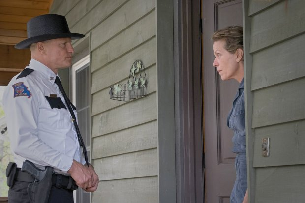 "Woody Harrelson and Frances McDormand in ""Three Billboards Outside Ebbing,Missouri."" (Merrick Morton/Fox Searchlight Pictures)"