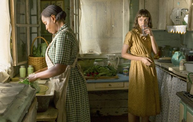 "Mary J. Blige, left, and Carey Mulligan in ""Mudbound."" (Steve Dietl/Netflix)"