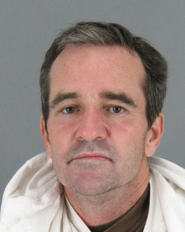 Scott Davis, 50, of Menlo Park, was arrested Oct. 28, 2017, on suspicion of committing two armed robberies at a CVS Pharmacy in downtown Menlo Park. (San Mateo County Sheriff's Office)