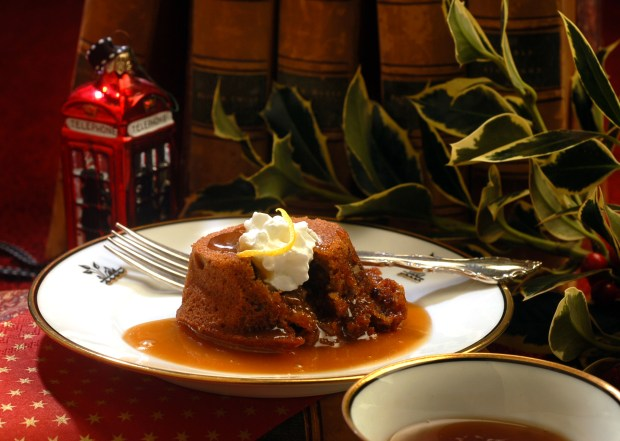 Sticky Toffee Pudding is a British classic, a cakelike dessert garnished with toffee sauce. (Mark DuFrene/Staff File Photo)