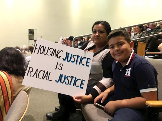 Sandra Robles is a renter advocating for stronger protections at a San Jose City Council meeting on Tuesday.
