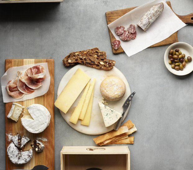 Cowgirl Creamery's Party Box ($275) offers everything you need to host acheese and salumi shindig, except the guests. That part's up to you -- or your lucky gift recipient. (Courtesy Sara Remington)