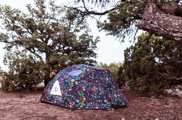 Make a campground splash with this colorful two-man tent fromPortland-based Poler Outdoor Stuff. The Navy Rainbro Tent adds plenty of color to the outdoor experience. (Poler Outdoor Stuff)