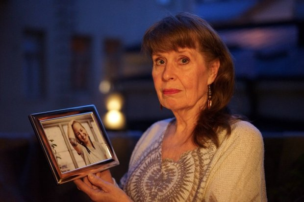 Kirsi Piha-Timonen holds a photograph of her daughter, Hanna Ruax, who waskilled in the Ghost Ship warehouse fire in Oakland. The photo was taken by her son, Jaakko Timonen, in Helsinki, Finland, where Ruax and her family are from. (Courtesy Jaakko Timonen)
