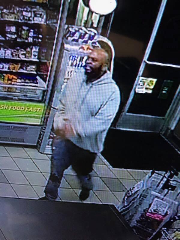 A surveillance photo from a convenience store outside Stockton on Nov. 21, 2017 shows John Bivins, an inmate who escaped from the Palo Alto courthouse on Nov. 6, 2017. An hour before this photo was taken, Bivins eluded authorities in a pursuit that led to the capture of his fugitive partner. (California Highway Patrol)