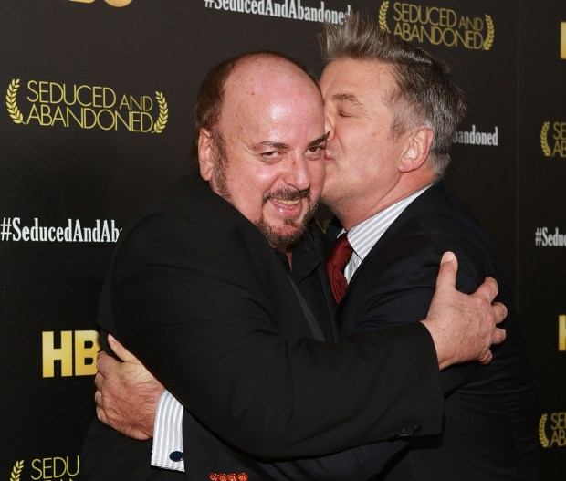 "NEW YORK, NY - OCTOBER 24: Director James Toback and actor Alec Baldwin attend the ""Seduced And Abandoned"" New York premiere at Time Warner Center on October 24, 2013 in New York City. (Photo by Robin Marchant/Getty Images)"