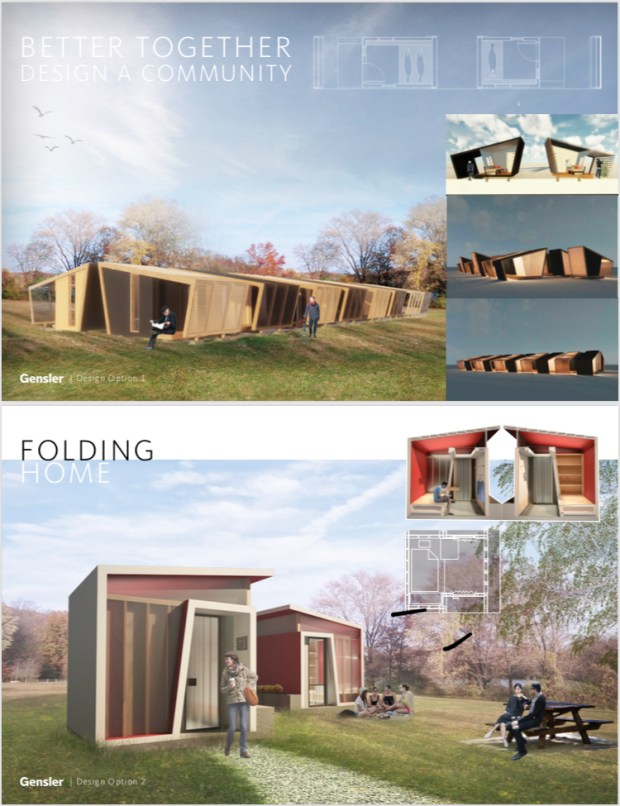 Rendering of tiny homes concept in San Jose (courtesy of Gensler, city of San Jose)