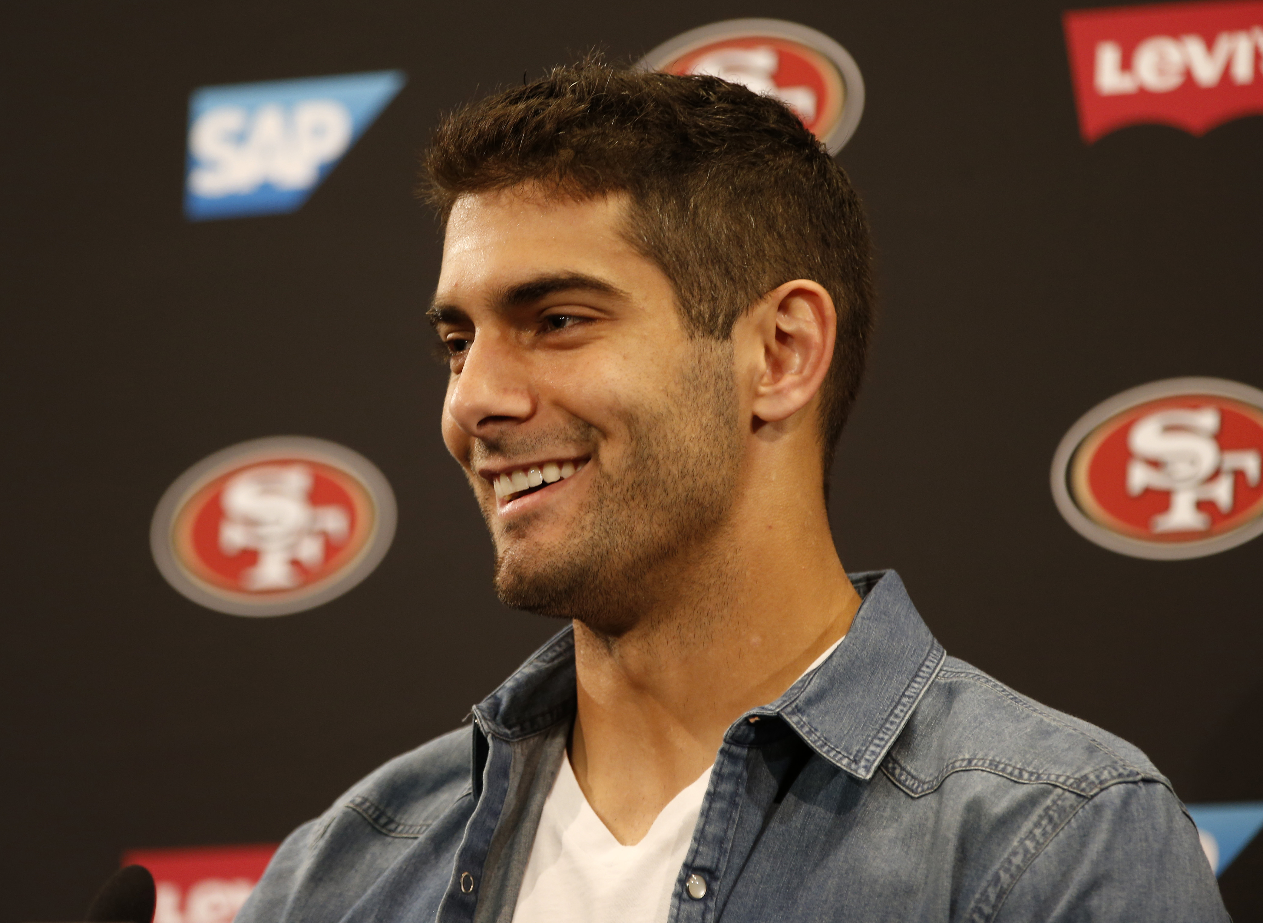 Jimmy Garoppolo's mic'ed up clip for a two-minute drill is fantastic