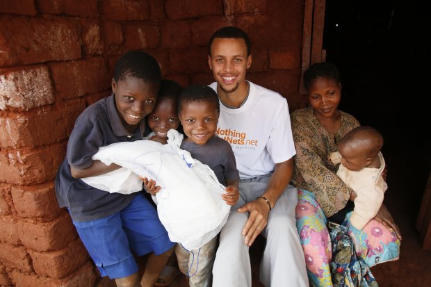 Warriors guard Stephen Curry flew to Tanzania in 2013 in his role of global ambassador for the United Nations Foundation's Nothing But Nets campaign. (Photo credit: United Nations Foundation)