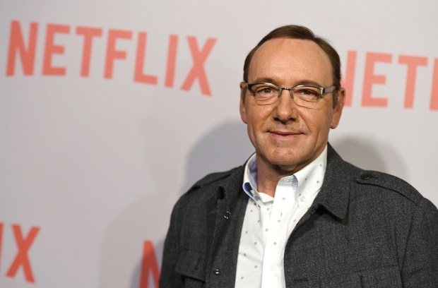 """Kevin Spacey arrives at the Q&A Screening of """"The House Of Cards"""" at the Samuel Goldwyn Theater in Beverly Hills, Calif. British media say police are investigating a second allegation of sexual assault against actor Kevin Spacey. London's Metropolitan Police force says it has received a complaint """"of sexual assaults against a man"""" in 2005, it was reported on Wednesday, Nov. 22, 2017. (Photo by Jordan Strauss/Invision/AP, File)"""