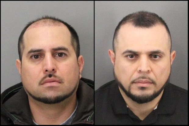 San Martin brothers Angel Topete, left, and Joshua Topete spearheaded a scheme where nearly two-dozen people staged car crashes to cash in on more than $200,000 in phony insurance claims, authorities say. (California Dept. of Insurance)