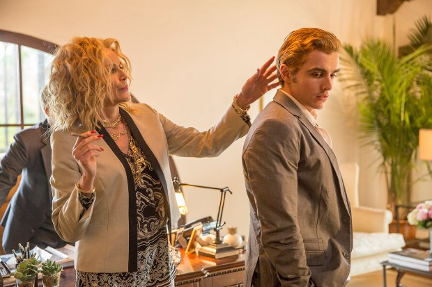 Sharon Stone and Dave Franco in 'The Disaster Artist.' (Justina Mintz/Warner Bros.)