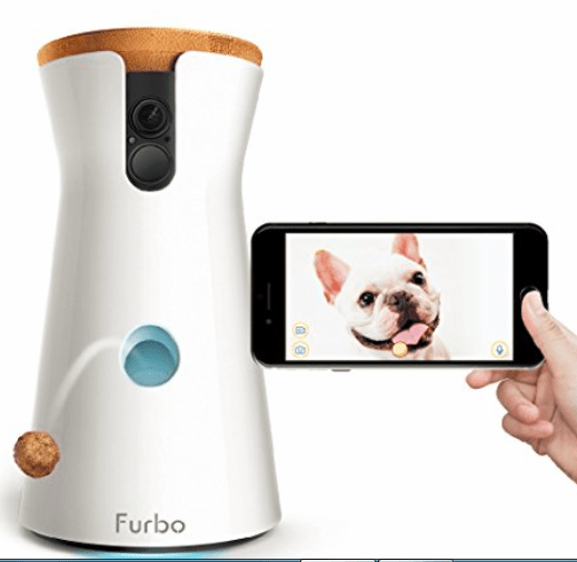 Give your dog treats even when you're not home with this technological marvel that also will text you when the dog is barking. From Furbo. (Amazon.com)