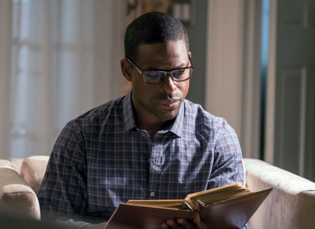 "Sterling K. Brown of ""This Is Us"" was nominated for a Golden Globe award for best actor in a drama series on Monday, Dec. 11, 2017. (Ron Batzdorff/NBC via AP)"