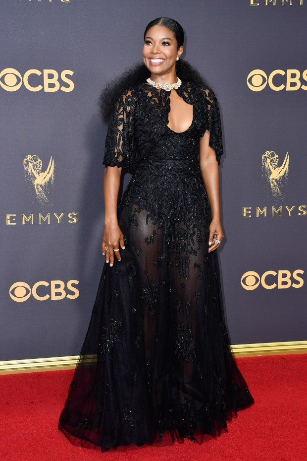LOS ANGELES, CA SEPTEMBER 17: Actor Gabrielle Union attends the 69th Annual Primetime Emmy Awards at Microsoft Theater on September 17, 2017 in Los Angeles, California. (Photo by Frazer Harrison/Getty Images)