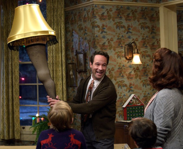A CHRISTMAS STORY LIVE!: L-R: Cast members Andy Walken, Chris Diamantopoulos, Tyler Wladis and Maya Rudolph during FOX's live musical event, A CHRISTMAS STORY LIVE!, airing Sunday, Dec. 17 (7:00-10:00 PM ET live/PT tape-delayed) on FOX. CR: Ray Mickshaw/ FOX