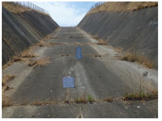 An engineering study completed in November, 2017 found widespread cracksand evidence of leaks at the concrete spillway at Calero Dam in Santa Clara County. (Santa Clara Valley Water District)