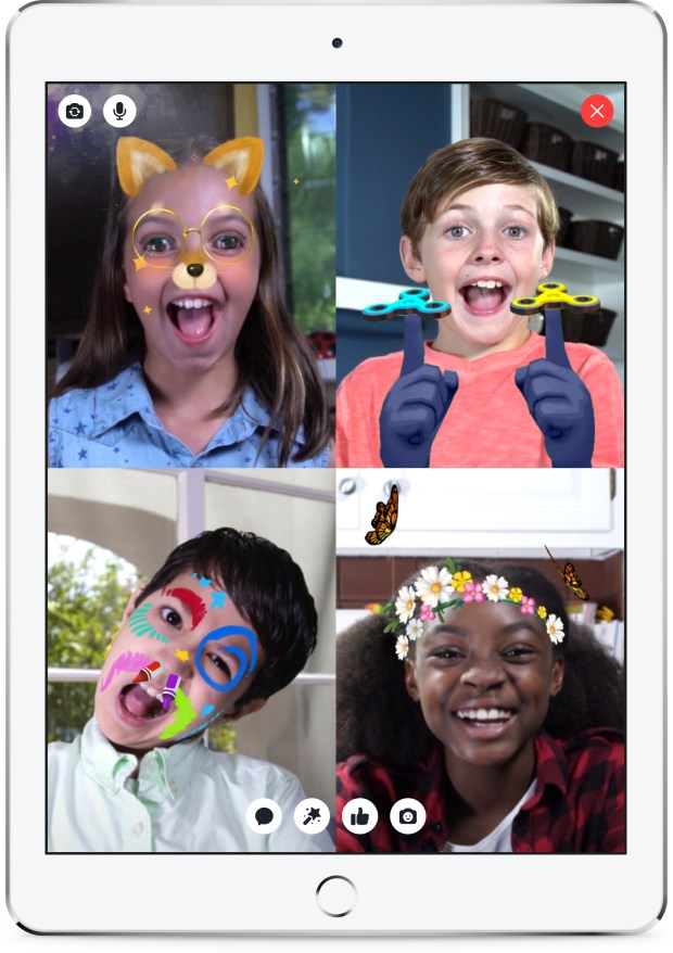 A screen shot from Facebook shows the look of their new Messenger Kids app. (Facebook)