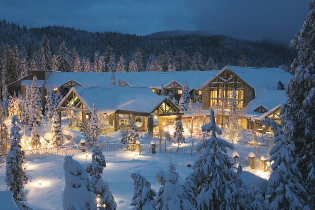 Located at about 5,000 feet elevation, Tenaya Lodge in Fish Camp is a snowywonderland in the winter with plenty of activities, from the ice rink to sledding (Courtesy of Tenaya Lodge).